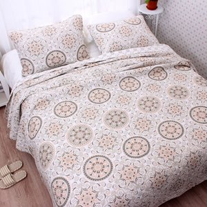 CHAUSUB American Style Quality Quilt Set 3pcs Washed Cotton Quilts Quilted Bedspread Bed Cover Sheets Coverlet Set King Size