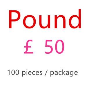 Британская валюта 50 фунтов поддельные деньги заготовка дети играют деньги 50УК фильм деньги поддельные заготовки