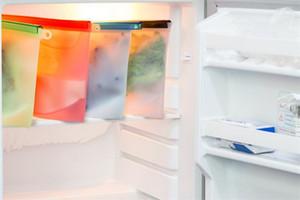 Yeniden kullanılabilir Silikon Gıda Koruma Çantası Airtight Mühür Gıda Saklama kabı yönlü Mutfak Taze Vakum Çanta Pişirme