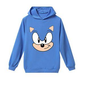 Spring Autumn Boys Girls Hoodies Children Super Mario Bros Luigi Tops Kids Long Sleeve Sweatshirts Clothes Toddler Tshirt Sonic