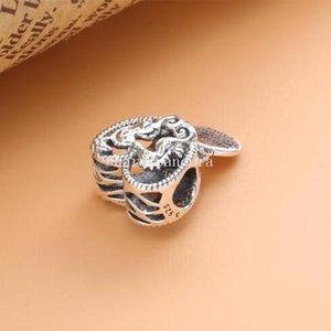 2020 Collana Charm Bracelet estate S925 Sterling Silver Openwork Cavallucci marini fascino del cuore di fascino branello europeo Pandora