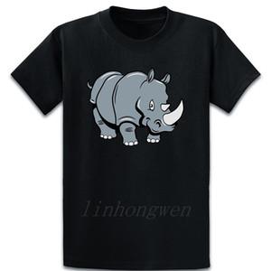 Rhino mignon T-shirt drôle mignon de remise en forme T-shirt personnalisé unique Homme Printemps Automne drôle sur la taille S-shirt 5XL
