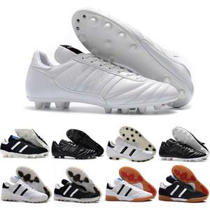 رجل كأس كوبا مونديال جلدية FG أحذية كرة القدم الخصم كرة القدم المرابط كأس العالم لكرة القدم أحذية الحجم 39-45 أسود أبيض برتقالي botines فوتبول