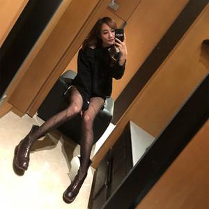 Calze sexy nero con stampa lettera INS stile Ragazze collant per donna del partito di modo delle ghette di marea di marca calzini