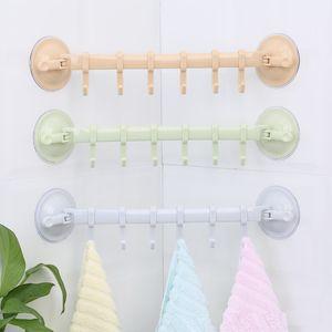 Güçlü Vakum Emiş Kupası Banyo Plastik Havlu Kanca Mutfak Mutfak 6 adet Güçlü Coat kanca kanca