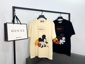 20SS Europeia nova carta do mouse moda verão impressão de alta qualidade T-shirt do desenhista de luxo top de algodão respirável T-shirt selvagem dos homens italianos