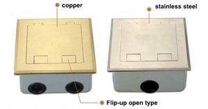 Напольные электрические розетки Выставочные электрические розетки Напольные розетки HGD-300K с Q235 Декоративная крышка из стали