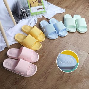 Women Men PVC Massage Slippers Bathroom Non-slip Indoor Home Slippers Female Couple Summer Beach Shoes