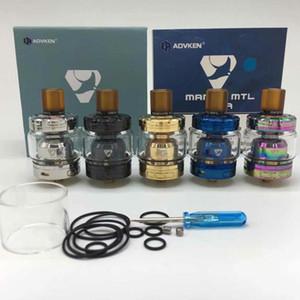 Smokevape MANTA MTL RTA Clone Substituível Tanque Atomizers Single Coil Vaporizador 2 ml / 3 ml Com 510 Gotejamento Dica Fit MODS Venda Quente