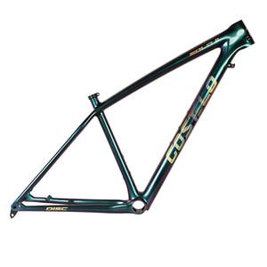Fibre de carbone T1000 Costelo SOLO II Montagne VTT 29er Cadre en carbone cadre de bicyclette Tige de selle pince seulement 820-920g seulement Très léger