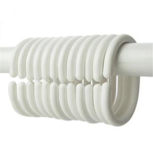 6480pcs lot New Plastic Shower Curtain Hook Hanger Rings Hanger Bath Drape Loop Clasp Home Curtains Hanger