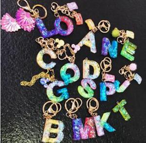 26 букв брелок брелок конфеты цвет сладкий письмо брелок студент сумка кулон прекрасный милый автомобиль украшения брелки IIA166
