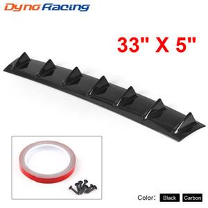 Plastique ABS déflecteur châssis aileron de requin châssis universel noir pare-chocs arrière 7 motif de carbone de la dent