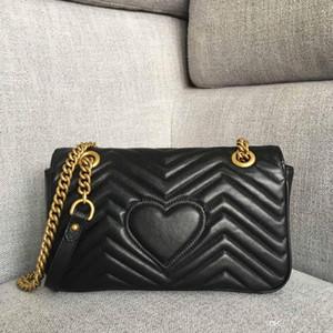 Top-Qualität Designer Luxus Handtaschen Original Leder Frauen Umhängetaschen Modemarke Marmont Handtaschen Soho Crossbody Taschen