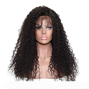 Kinky Curly Full Lace Human Wigs with Baby Hair Cuticle Aligned Brazilian Virgin Hair 150 Density Lace Front Wigs for Black Women