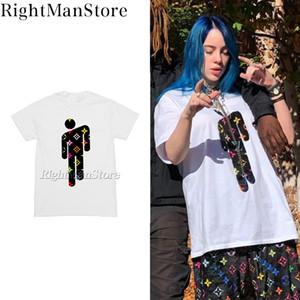 Billie Eilish estrela T camisa do vintage hiphop streetwear algodão de alta qualidade T200111 caricatura ao vivo