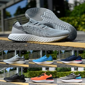 Atacado Hot épico Reagir 2019 tênis para mulheres Triplo Preto Branco Oreo azuis Mais recente Sports tricotar 2 homens caminhando Sneakers