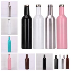 750ml 304 acciaio inossidabile ha isolato a doppia parete bottiglia di vino della boccetta di vuoto Hip Flask birra Growler Wine For Outdoor RRA2156