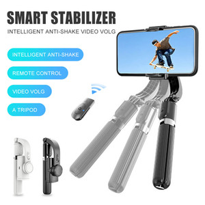 L08 Anti-Shake Selfie Stick Tripod 360° Rotate Rechargeable with Bluetooth Remote Selfie Holder For Universal Andriod Phone with Retail Box