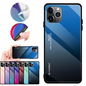 Iphone11 cas de téléphone mobile nouveau boîtier en verre trempé de gradient pour Apple 11 créatif housse de protection sur mesure