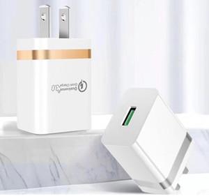 QC3.0 Adaptif Hızlı iPhone 11 Samsung S10 Quick Charge Seyahat Adaptörü Ev Duvar Şarj ABD fişi Şarj