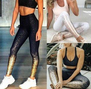 Womens Designer Leggings bronzante impression Yoga Pantalons Sweatpants Mode Courir Fitness Gym Vêtements 2020 Nouveau en gros Qualité