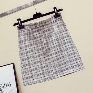 Women Pleated Skirt Fashion Plaid Mini A-Line Kawaii Skirt Famale Chic Harajuku Summer Casual Pleated High Waist Ladies