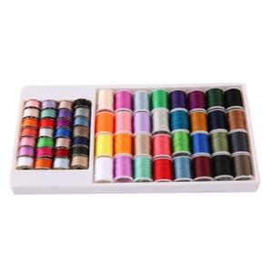 60pcs estilo minimalista portátil Metal Thread carrete de bobina Set colores mezclados para usos domésticos Mini Electric hacer a mano la máquina de coser