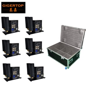 6In1 Pack Flightcase Double Jet Pipe Stade CO2 Jet Machine STRANGE EFFECT EFFECT DMX Contrôle LCD 110V / 220V