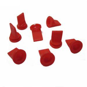10 piezas Red de silicona Duckbill válvula de una vía la válvula de retención 10 * 6 * 12,7 mm para líquido y gas de reflujo Prevent