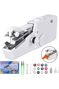 DHL Free Ship Chargeable Electric Sew Machine Portable Mini Handheld Handy Stitch Home Clothes Sew Tools Multi Function Apparatus