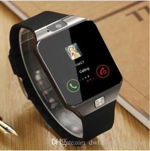 Новый SmartWatch Intelligent Digital Sport Gold Смарт Часы DZ09 шагомер для телефона Android наручные часы Мужчины Женские часы Satti