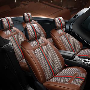 stile 2020 coprisedile accessori per la protezione automatica interna macchina per camion della berlina SUV Lino cucitura di cuoio di lusso universale del sedile Cuscino