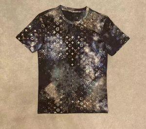 20ss hombre de las camisetas tee letras parís Graffiti ropa de camuflaje de impresión tótem camisas de manga corta de los hombres de las mujeres reales Nueva