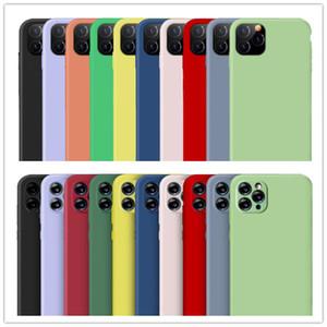 Caso Original Silicone iPhone Por SE 11 Pro Max Xs Caso Silky Soft-touch iPhone For Cover Xr Líquido X 7 8 Plus 6s 6 com Retail Box