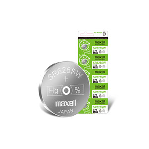 Maxell Swiss watch battery 377 SR626SW AG4 LR626 1.55v silver oxide button battery A card 5 pieces