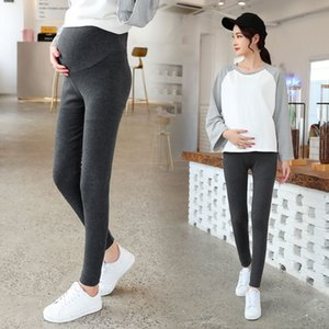 Pengpious 2019 spring and autumn pregnant women trousers solid color high waist full length maternity belly leggings pants nice
