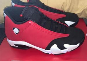 Version finale 14 OG haut Gym Rouge Hommes Basketball Chaussures de Sport Rouge Noir Blanc Rétro 14S 487471-006 Athletic Chaussures de sport avec la boîte