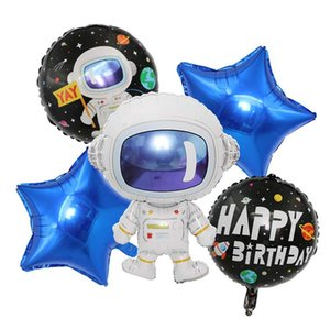 Kinder Astronaut Geburtstag Folienballons Rakete Fantasy Science Fiction 18 Zoll Runde Ballon Party Dekorationen Supplies