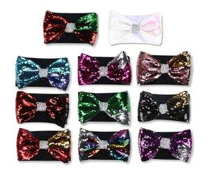 designer headbands baby headbands hair bows Sequin bow elasticity Headband 1