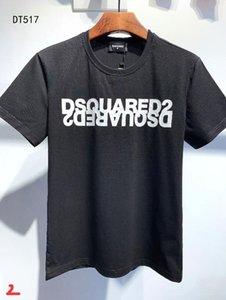 DS2 20SS Italia Disco Punk Streetwear hombre camisetas Carta de impresión de alta calidad Pantalones cortos Tops mujeres de los hombres de Hip Hop Harajuku Camiseta Tee GIE517