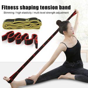 8 Grid Digital Position Elastic Band Stretch Belts for Fitness Yoga Latin Dance SP99