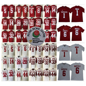 NCAA College Oklahoma Sooners 1 Kyler Murray Jersey 6 Baker Mayfield 14 Sam Bradford 28 Adrian Peterson 44 Brian Bosworth 32 Samaje Perine