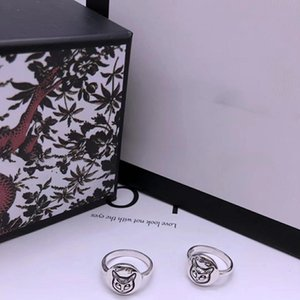 New Product Real Silver Ring Special Cat Pattern Women Ring Sterling Silver Ring Blind Exquisite Fashion Jewelry Supply