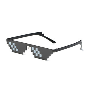 New Mosaic Sunglasses Trick Toy Thug Life Glasses Deal with It Glasses Pixel Women Men Black Mosaic Funny Toy Glasses