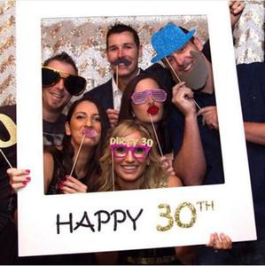 Рамка для фотографий 1st Birthday 30th 40th Photo Booth Реквизит 16 18 21 30 40 50 С Днем Рождения Photobooth Декорации для вечеринок
