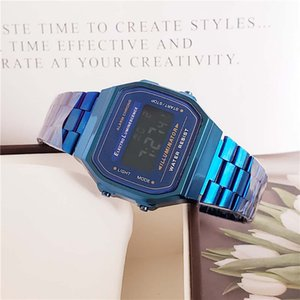 2020 New Fashion Women Men LED Watch Ultra-thin Purpose Wristband Led Sports Watches Multifunction Metal Electronic CS18 in promotional