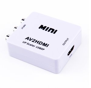 1080P Mini AV to HDMI Converter Adapter RCA Composite video audio signals to HDMI signals CVBS to HDMI AV2HDMI Converter for HDTV TV PC DVD