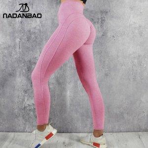 NADANBAO Mulheres Leggings Finas Jogging Leggings Sólidos Cintura Alta Elastic Sportwear Sexy Calças Femininas