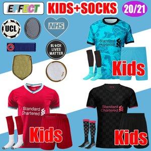 Yeni 2020 2021 kaleci Erkekler + Çocuk kiti üniformalar Keita LVP Mohamed M. SALAH Firmino Futbol Forma Futbol Gömlek 20 21 VIRGIL MANE Geldi